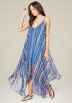 Bebe Handkerchief Hem Maxi Dress