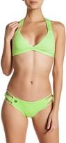 Maaji Spearmints Knots Cheeky Reversible Bikini Bottom