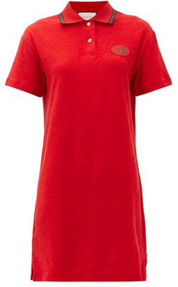 Gucci Cotton-chenille Polo Dress - Red