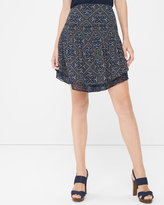 White House Black Market Mixed Print Soft Skirt