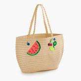 J.Crew Girls' straw tote bag