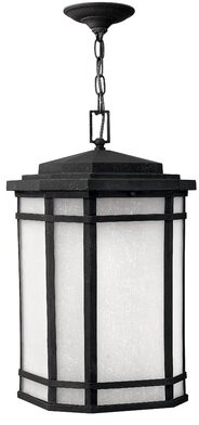 Cherry Creek 1-Light Outdoor Hanging Lantern Hinkley Finish: Vintage Black / White, Bulb Type: 26W Max GU24