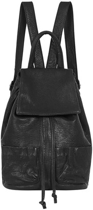 West 14th Seventh Avenue Backpack Black Bubble Leather