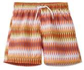 Stella Cove Toddler Boy's Chevron Print Swim Trunks