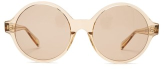 Celine Oversized Round Acetate Sunglasses - Light Brown
