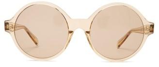 Celine Oversized Round Acetate Sunglasses - Womens - Light Brown