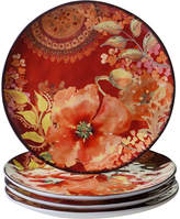 Certified International Watercolor Poppies 4-pc. Dinner Plate
