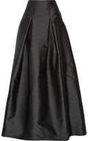 Alexis Sury Perforated Satin-Twill Maxi Skirt