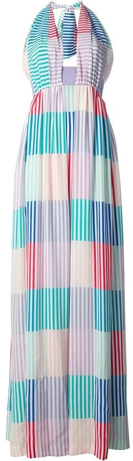 Cacharel striped halter maxi dress