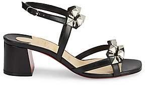 Christian Louboutin Women's Galerietta Studded Leather Sandals