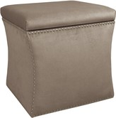 The Well Appointed House Nail Button Storage Ottoman in Mystere Mondo
