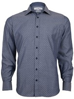 Jeff Banks Hawkes Dot Print White Label Extra Slim Fit