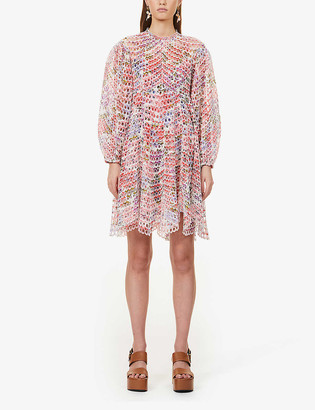 Zimmermann Poppy floral-print ramie mini dress