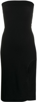 Ann Demeulemeester Strapless Fitted Dress