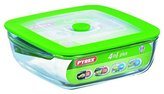 Pyrex 4936928 Dish 4 in 1 Rectangular with Steaming Lid 2.2 L 25 x 22 x 7 cm Glass / Plastic
