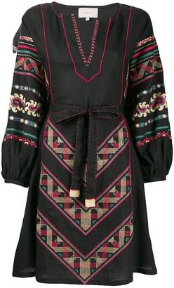 Sleeping Gypsy Embroidered Design Dress