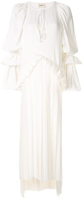 KHAITE Cara pleated dress