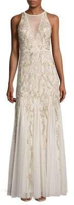 Adrianna Papell Halter Bead Gown