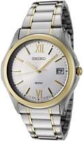 Seiko Men's SGEF22P1 Silver Dial Two-Tone Stainless Steel Watch