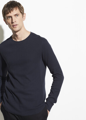 Vince Double Knit Long Sleeve Crew