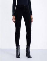 J Brand Tori skinny mid-rise velvet jeans