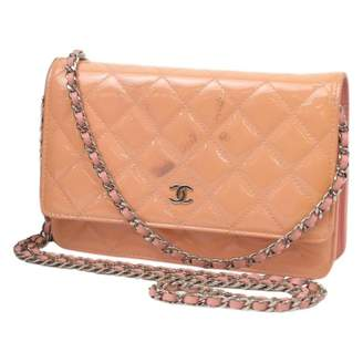 Chanel Wallet on Chain Pink Patent leather Clutch bags
