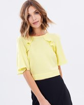 Miss Selfridge Angel Sleeve Cold Shoulder Blouse