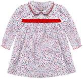 Cairenn Foy - Hayley Style Dress In White Ditsy Print With Long Sleeve Dress And White Peter Pan Collar
