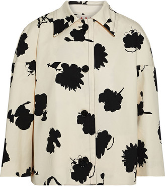 Marni Printed Cotton And Linen-blend Drill Jacket