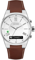 GUESS Men's Connect Brown Leather Strap Smart Watch 43mm C0002MB1