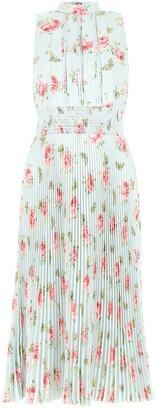 Prada Floral Pleated Midi Dress