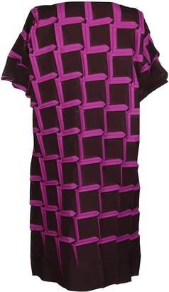 Issey Miyake Geometric Print Midi Dress
