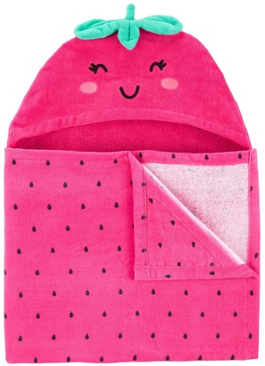 Carter's Baby Girl Strawberry Hooded Towel