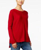 Eileen Fisher Wool Seamed Sweater