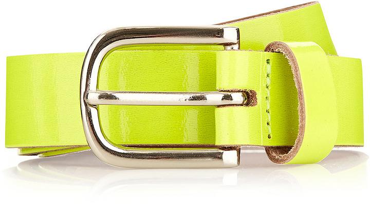 Topman Fluorescent Yellow Smart Belt