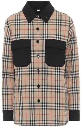 Burberry Vintage Check quilted wool shirt