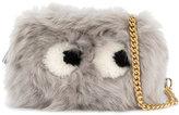 Anya Hindmarch eyes shearling crossbody bag - women - Leather/Sheep Skin/Shearling - One Size