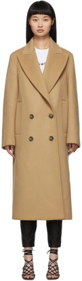 Stella McCartney Beige Wool Catalina Double Breasted Coat