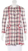 Dolce & Gabbana Plaid Linen Coat