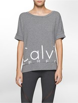 Calvin Klein Performance Oversized Logo Short-Sleeve Boxy T-Shirt