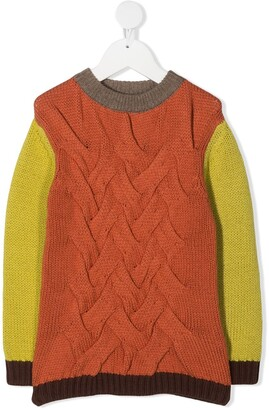 Wolf & Rita Panelled Cable-Knit Jumper