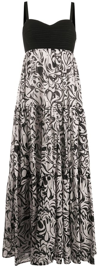 Pinko Empire Line Graphic Print Dress