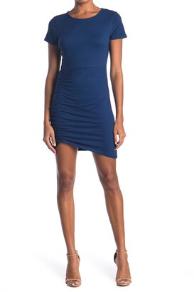 Vanity Room Ruched Side Bodycon T-Shirt Dress