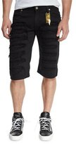 Robin's Jeans Overdyed Distressed Cutoff Shorts, Black