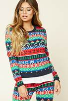 Forever 21 FOREVER 21+ Fair Isle Snow Sweater