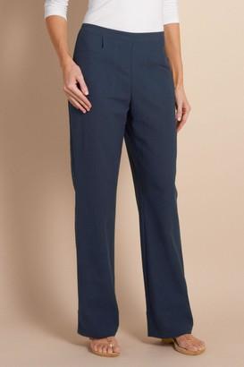 Petites Straight Leg Gauze Pants