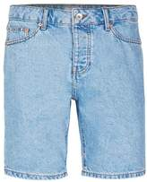 Topman Light Blue Slim Denim Shorts