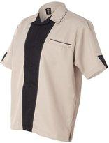 Hilton Monterey Bowling Shirt - HP2245 - L - Khaki/Black