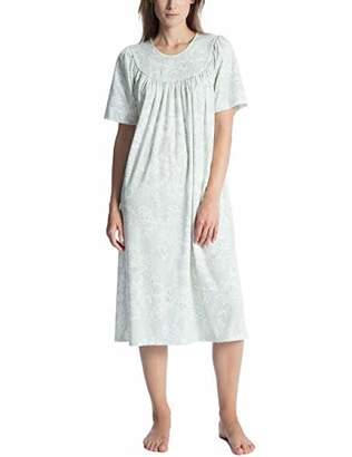 Calida Women's Soft Cotton Nightie, Green Lily 641, X-Small