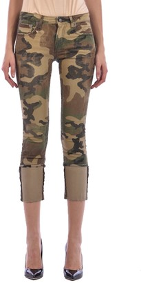 R 13 Skinny Jeans Camouflage